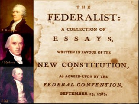 a series of essays promoting ratification of the constitution